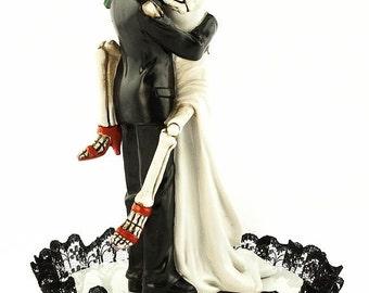 Skull wedding cake toppers Etsy