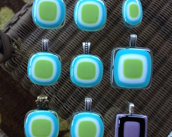 Beautiful fused glass pendants.