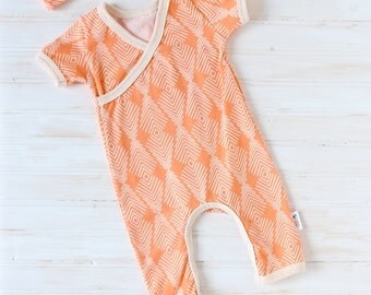 Baby Kimono Romper - Baby Romper - Baby Going Home Outfit - Baby Coming Home Outfit - Baby Girl Set - Newborn Baby Set - MADE TO ORDER