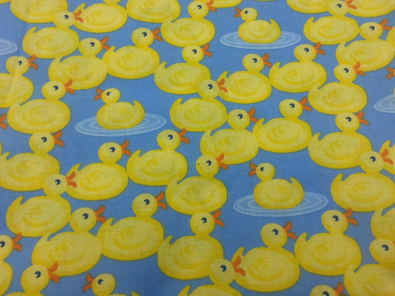 Yellow baby duck fabric 1 yard for Yellow baby fabric