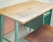 Vintage School Desk (Natural) Reclaimed, salvaged, recycled, upcycled, antique, rustic, shabbychic, midcentury, custom
