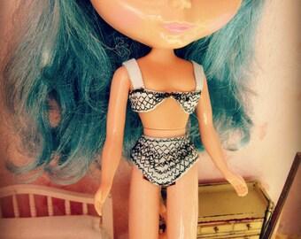 PATTERN Blythe Doll Designer Pattern/Tutorial PDF for 2-Piece Blythe Bikini/Bra and Panties Set  by Cindy Sowers