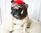 Sock Monkey Dog Hat - Dog Costume - Dog Clothing - Pet Costume - Pet Hat - Pug Hat - All You Need is Pug®