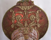 Hold For JF Do Not Buy Sold /// Ornate Amethyst Mauve Baroque Lampshade Only