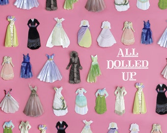 L. Delaney's All Dolled Up DIY Book- Signed Copy (Craft, Paper Dolls, Paper Dresses, Paperart, Scrapbooking, Mixed Media, How-To)