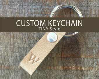 CUSTOM LEATHER KEYCHAIN  -   Tiny Style