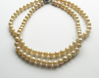 Pearl Double Strand Vintage Choker