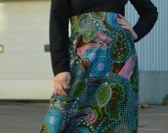 70's Paisley Maxi Dress