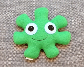 Green Snuggle Monster Plushie, George