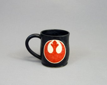 Rebel Alliance Star Wars coffee mug in red and black