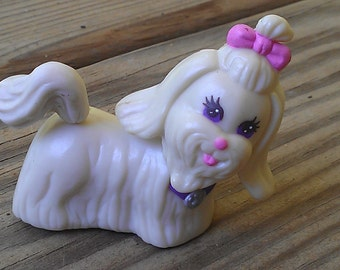 Shih Tzu - LPS dog - lps Shih Tzu - littlest pet shop dog - vintage pet shop Shih Tzu -  miniature dog - toy Shih Tzu - vintage Shih Tzu