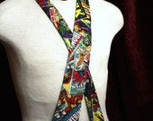 men's neck tie, Marvel Comic Book gifts for him men, spiderman, hulk, wolverine, ironman, comic book covers,  gifts for geeks nerd gifts