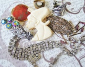 Vintage jewelry lot, Antique jewelry lot, destash, clearance, Vintage necklace lot, vintage ring lot, vintage brooch lot, repurposed jewelry