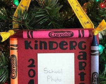 2016 Kindergarten Crayon Keepsake School Photo Ornament