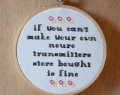 Store bought neurotransmitters - 5 inch cross stitch