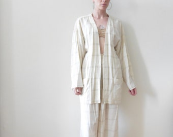 Cotton Gauze Kimono Style Top and Pants
