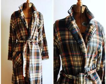 Grunge Grandpa Vintage Flannel Bathrobe