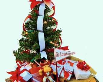 Texas Longhorns Team Spirit Table Top Christmas Tree Ornament