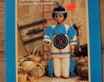 1993 fibre craft crochet pattern INDIAN CHIEF 2