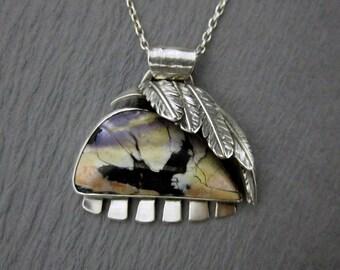 Tiffany Stone Flying Bird Pendant, Sterling Silver
