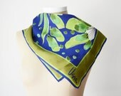 1970s Blue and Green Vera Botanical Scarf
