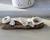 Sea Goddess Ring Holder Made from All Natural Materials -  Shells & Driftwood Nautical / Boho Beach