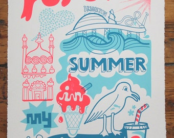 Forever Summer - Handmade Silkscreen Print