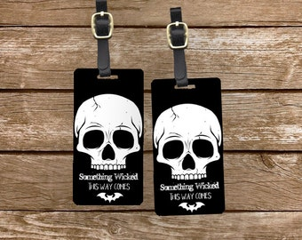 Personalized Luggage Tags Life Something Wicked This way Comes Shakespear quote- Metal Tags with Printed Personalization