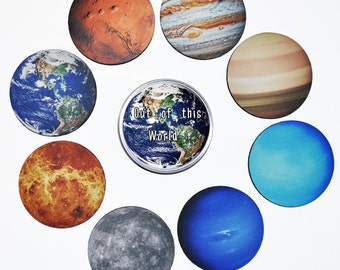 Drink Coaster Set Solar System Planet 8 Coasters Drink Coaster Set in Gift Tin