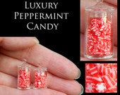 Luxury Christmas Peppermint Candy Jars - Artisan fully Handmade Miniature in 12th scale. From After Dark miniatures.