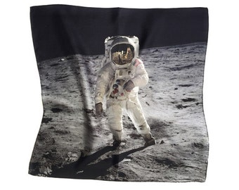 Moon Walk Silk Handkerchief