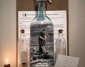 Reserved Order for Megan, Sand Ceremony Bottle, Personalized Hand Painted Sand Ceremony Bottle With Your Photo, Hand Painted Wine Bottle