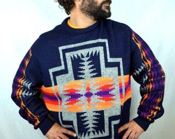 Vintage Pendleton High Grade Western Wear Southwest Wool Sweater