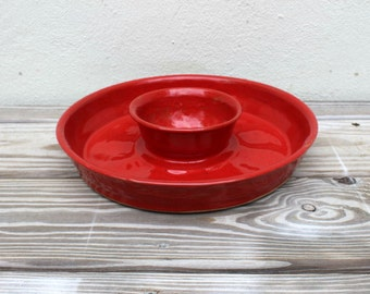 SALE. Chip and Dip. Chips. Dip. Serving. Dining. Kitchen. Tray. Snack. Snacks. Party. Serving Dish. Red. Chips and Dip. Ceramic. Vibrant.