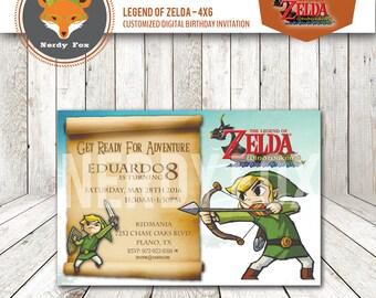 The Legend of Zelda the Wind Waker Custom Digital Invite - 4x6