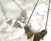 Geometric Shield Statement Necklace