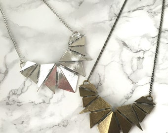 Geometric Shield Statement Necklace