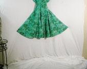 Aqua Full Vintage 60s Blair Abstract Dress Lolita Chic L