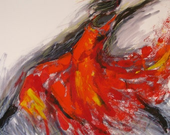 Set of three beautiful Dancer prints /modern art/ Unique limited edition print .By Ros Webb