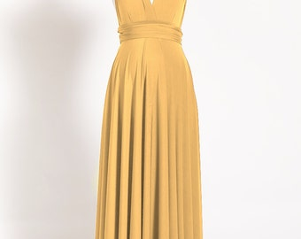 Long maternity dress, mustard infinity dress, yellow maternity dress, convertible dress, maternity evening dresses, long maternity dresses