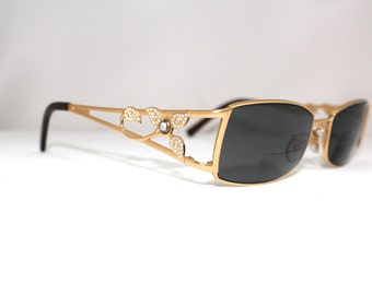 FERRAGAMO  Eyeglasses  BEAUTIFUL Rare Floral Rhinestone inlayl made in Italy/model1774 /with case