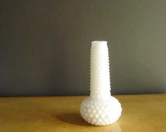 Hobnail Milkglass Vase - Vintage Milk Glass Vase