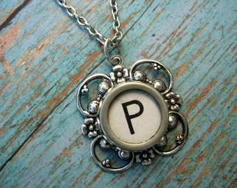 Typewriter Key Jewelry - Letter P