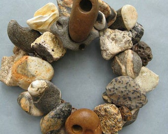 Colorful Rock Wreath or Candle Ring–RW351