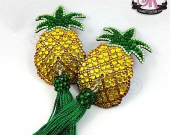 Pineapple Rhinestone Nipple Pasties - SugarKitty Couture