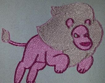 Steven Universe Lion embroidered canvas jacket patch Rose Quartz