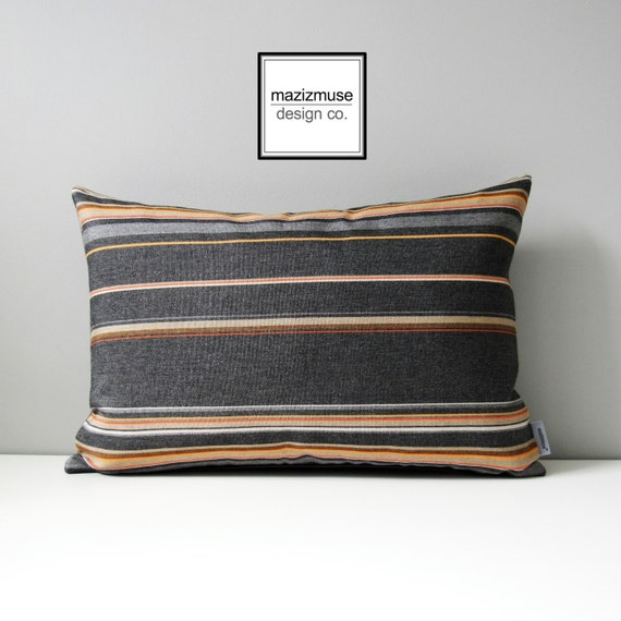 modern grey orange pillow cover decorative outdoor pillow. Black Bedroom Furniture Sets. Home Design Ideas