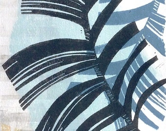 Frond no.4 original mono and linocut print