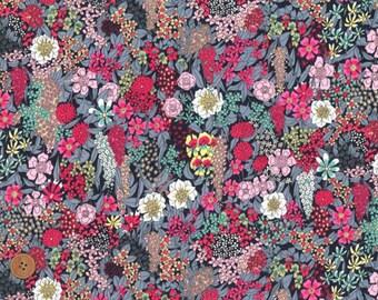Liberty Tana Lawn Fabric, Liberty of London, Ciara, Cotton Print Scrap, Vivid Floral Colorful Design, Quilt, Patchwork fabric, kt5047b