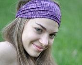 Purple Headband Womens Headband Wide Headband Knit Headband Head Wrap Purple Headwrap Hair Band Fabric Headband Hippie Band (#1114) M
